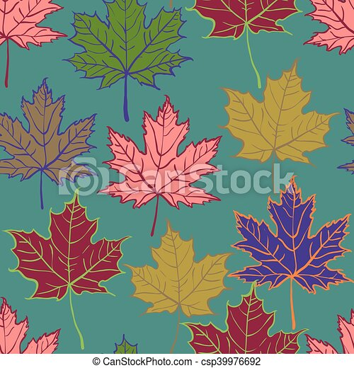 autumn leaf seamless pattern - csp39976692