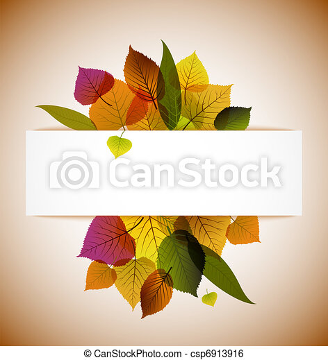 Autumn leafs abstract background  - csp6913916