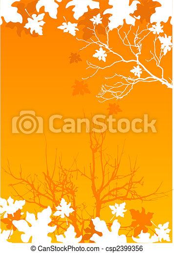Autumn leaves background - csp2399356