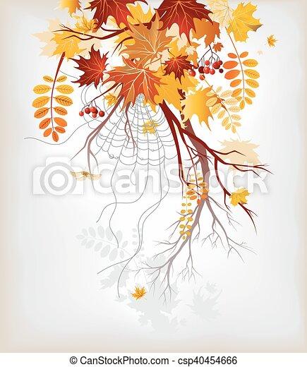 Autumn leaves background - csp40454666