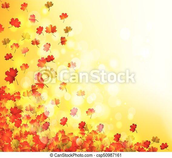 Autumn leaves background - csp50987161