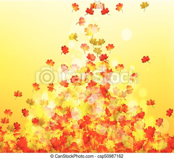 Autumn leaves background - csp50987162