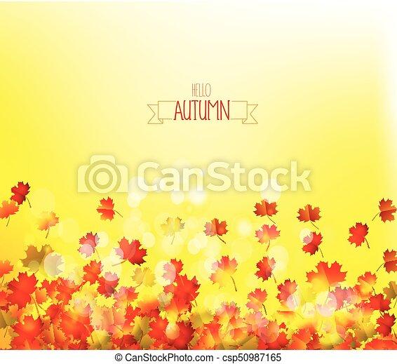 Autumn leaves background - csp50987165