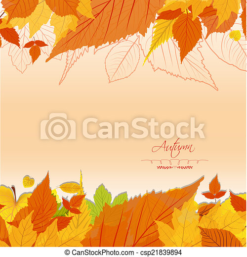 Autumn leaves background - csp21839894