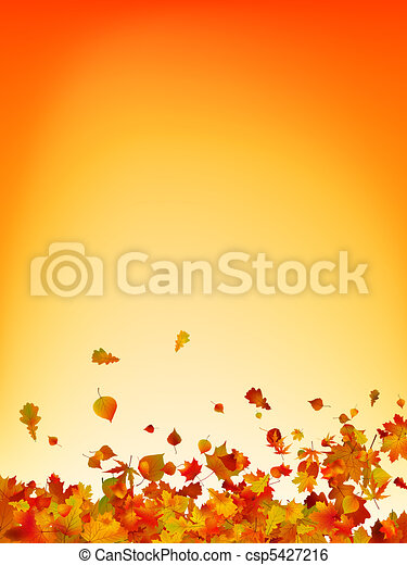 Autumn leaves background. EPS 8 - csp5427216