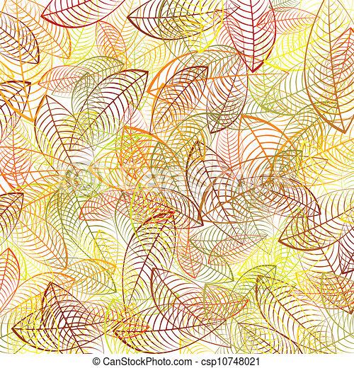 Autumn leaves background - csp10748021