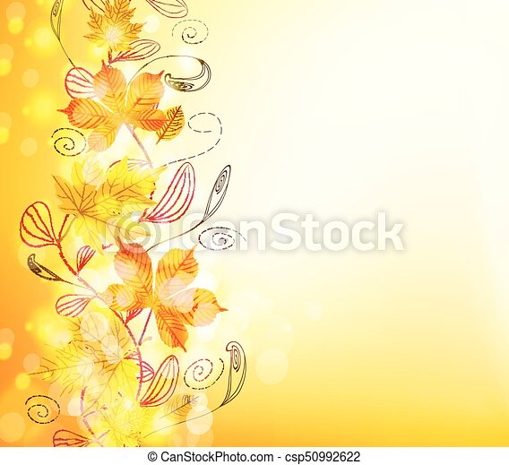 Autumn leaves background - csp50992622