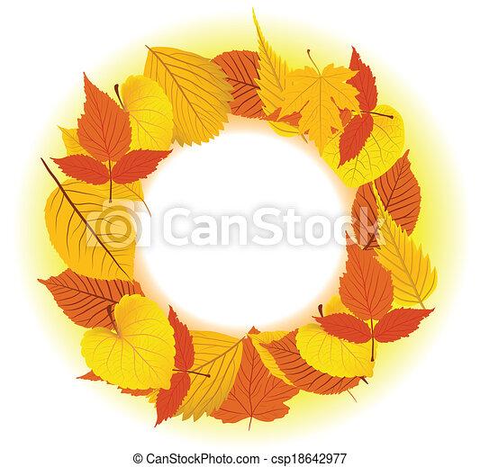 Autumn Leaves background - csp18642977