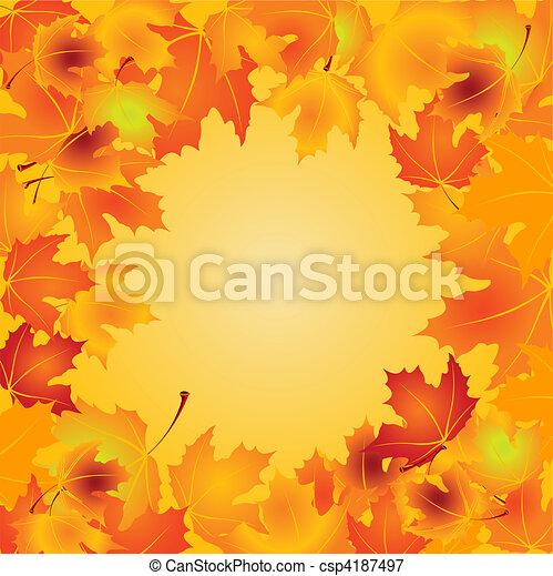 Autumn Leaves background - csp4187497