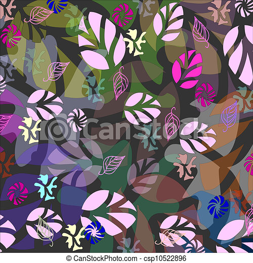 autumn leaves background pattern in - csp10522896