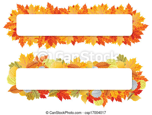 autumn leaves background vector banner template for poster rh canstockphoto com Bollywood Wedding Template Tools Clip Art