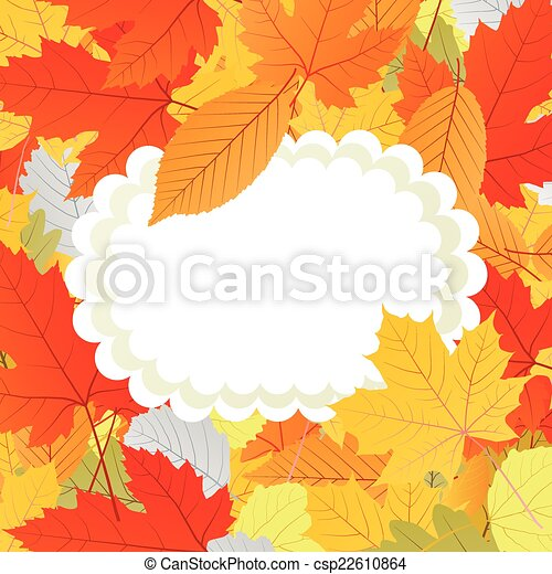 Autumn leaves background vector - csp22610864