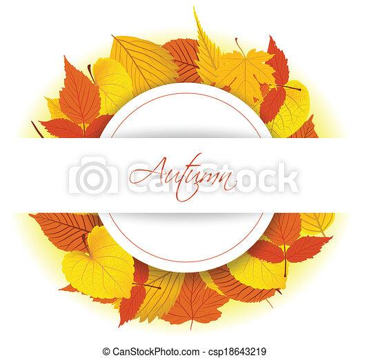 Autumn Leaves background - csp18643219