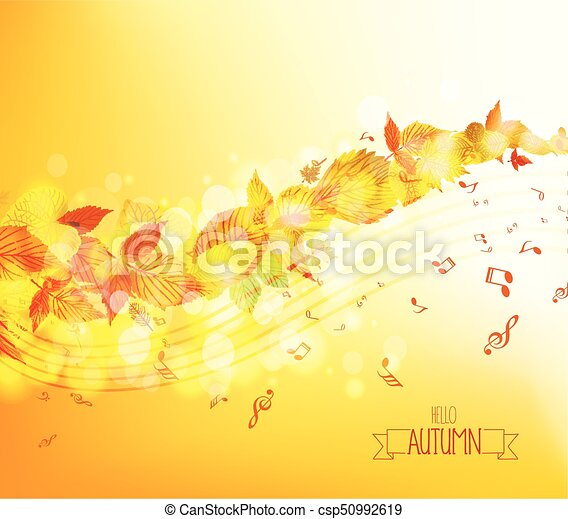 Autumn leaves background - csp50992619