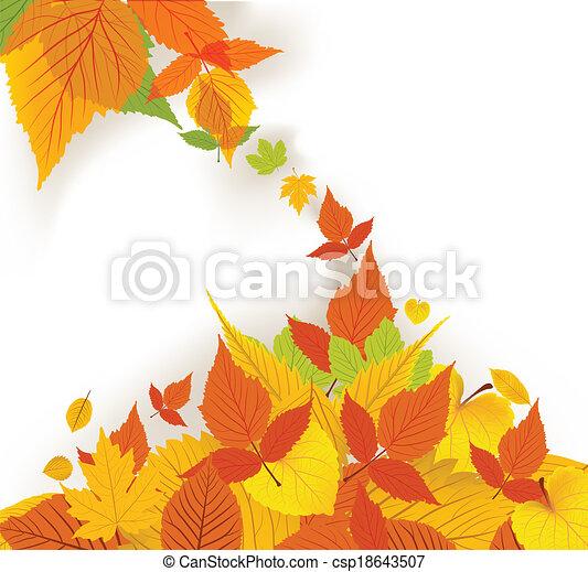Autumn Leaves background - csp18643507