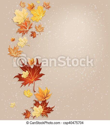 Autumn leaves background - csp40475704