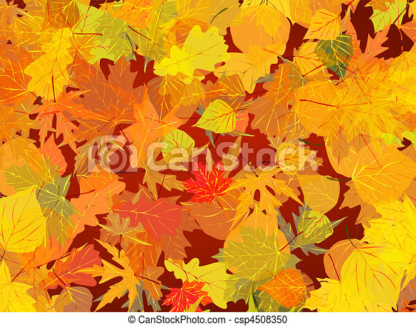Autumn leaves background. - csp4508350