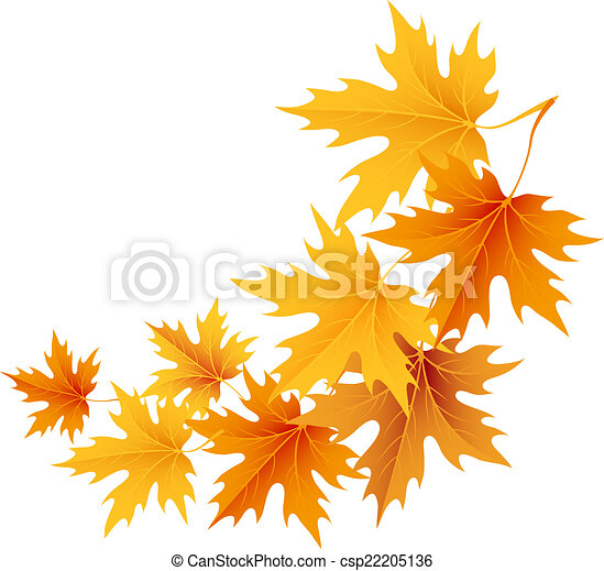 Autumn leaves background. Vector. - csp22205136