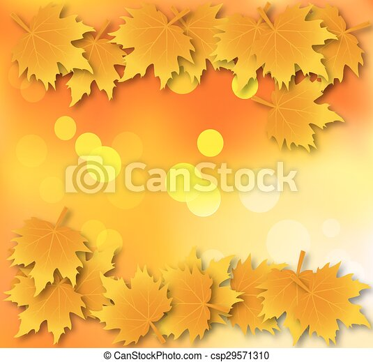 Autumn leaves background with leave - csp29571310
