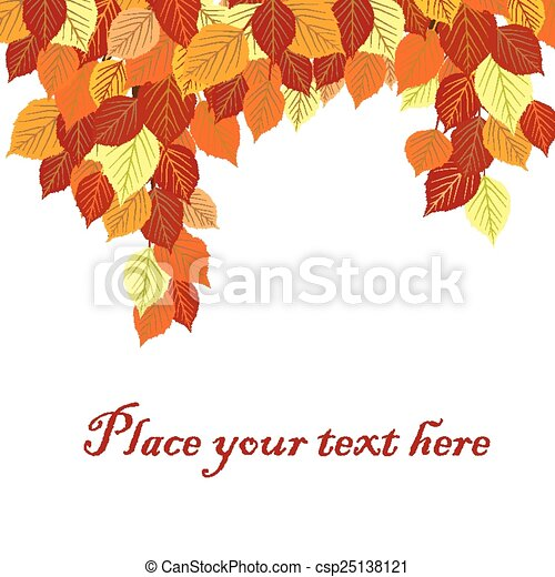 Autumn leaves background with place for your text - csp25138121