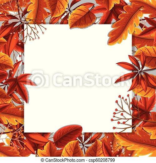 Autumn leaves border concept - csp60208799