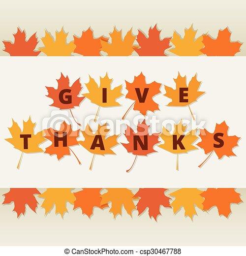 autumn leaves border - csp30467788