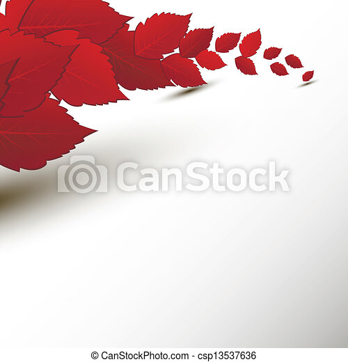 Autumn leaves border - csp13537636
