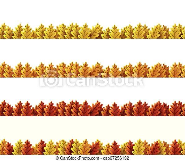 Autumn leaves border - csp67256132