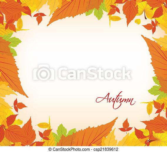 Autumn leaves border - csp21839612