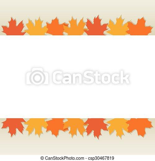 autumn leaves border - csp30467819