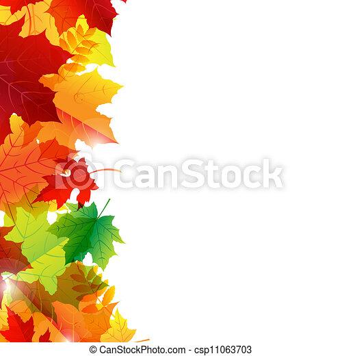 Autumn Leaves Border - csp11063703
