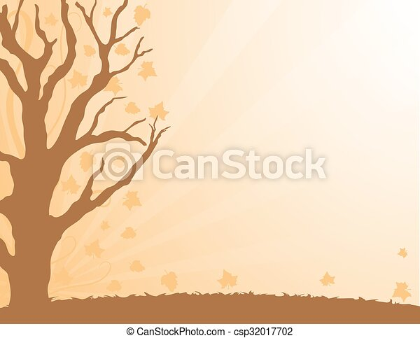 Autumn Leaves border - csp32017702