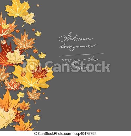 Autumn leaves design - csp40475798