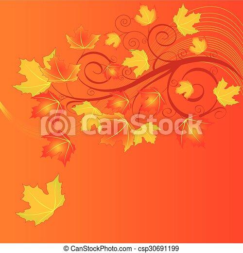 Autumn Leaves - csp30691199