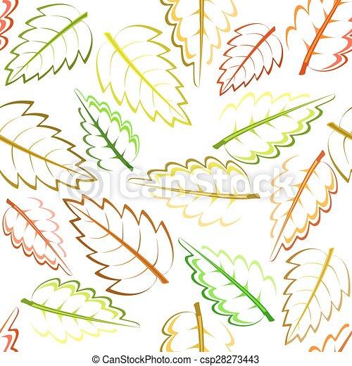 autumn leaves - csp28273443