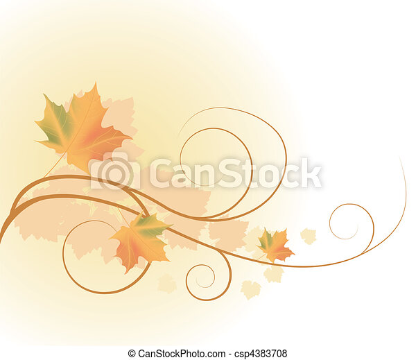 autumn leaves - csp4383708