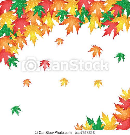 autumn leaves - csp7513818
