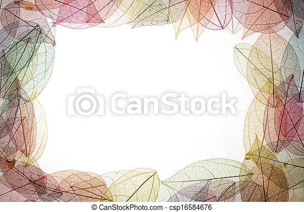 Autumn leaves frame - csp16584676