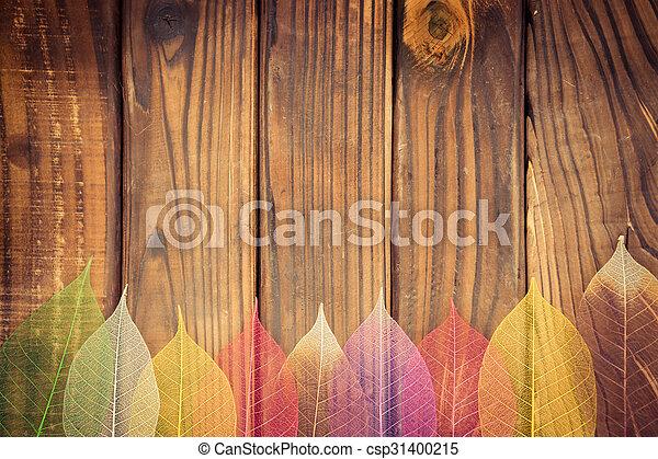 Autumn leaves frame - csp31400215