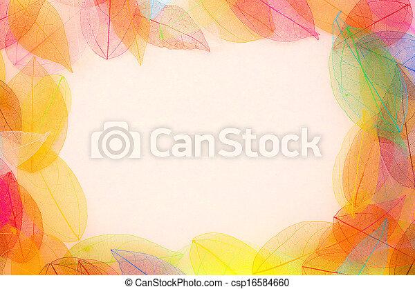 Autumn leaves frame - csp16584660