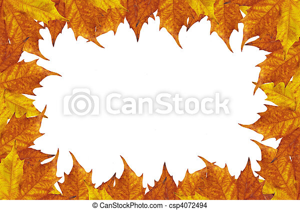Autumn leaves frame - csp4072494