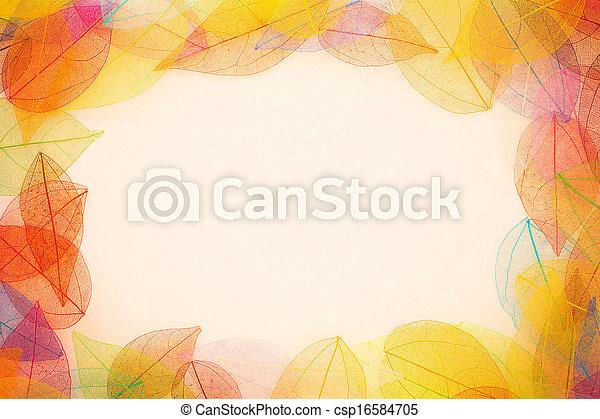 Autumn leaves frame - csp16584705