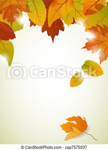 Autumn leaves - csp7570337