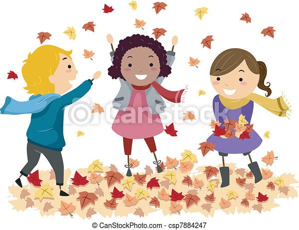 Autumn Leaves - csp7884247