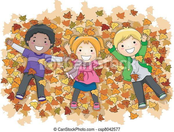 Autumn Leaves - csp8042577