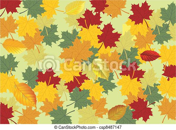 autumn leaves - csp8487147