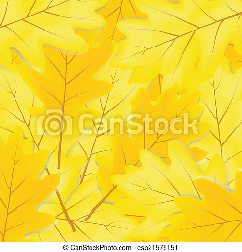 autumn leaves of oak - csp21575151