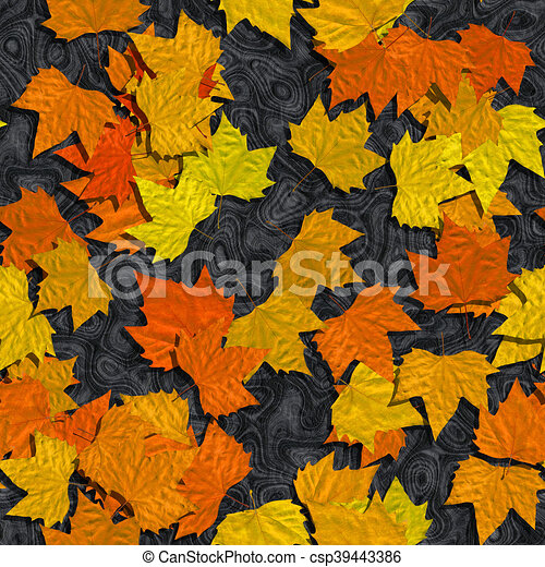 Autumn leaves or marble seamless generated texture background - csp39443386
