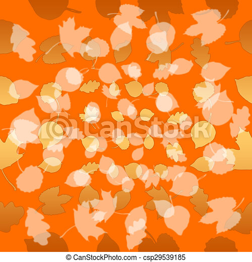 Autumn leaves, seamless background - csp29539185