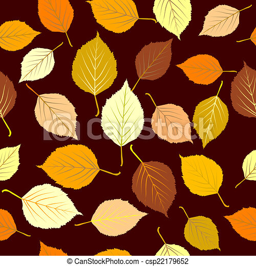 Autumn leaves seamless background - csp22179652